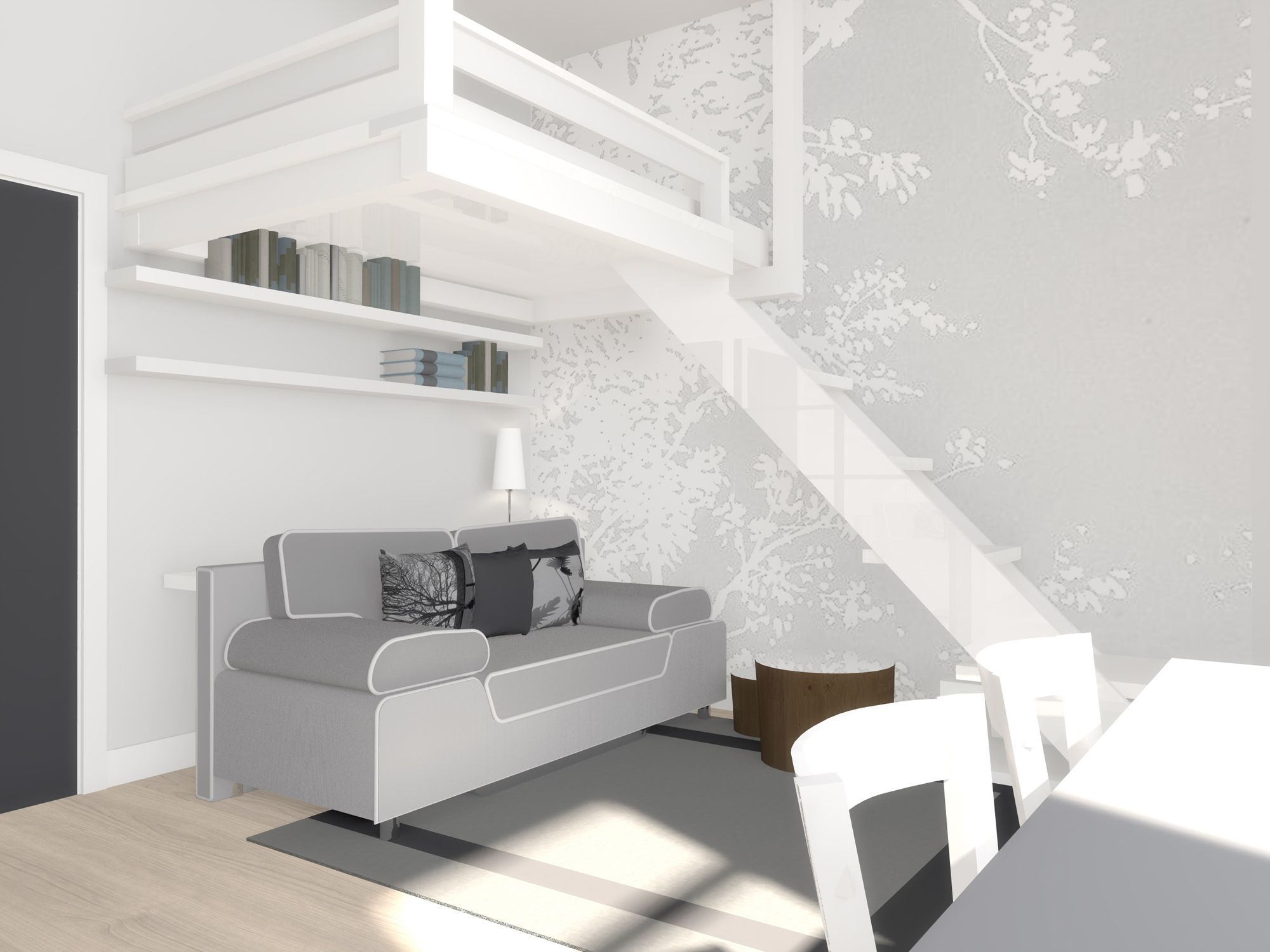 Interior design 22m2 apartment my p r o j e c t s for 35m2 apartment design