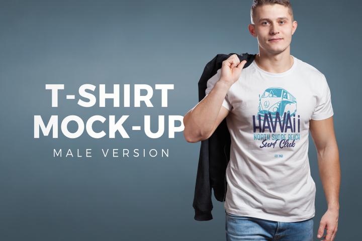 Download Crew Neck T Shirt Mock Up Male Version 125158 Mockups Design Bundles Mockup Lucu Bikini