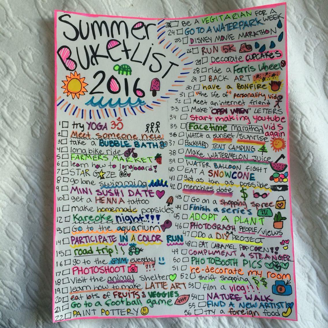 The 25 Best Summer Bucket List Ideas
