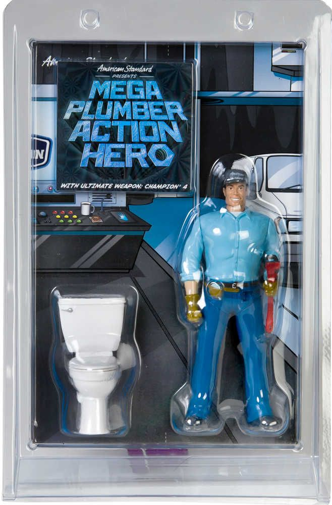 Weird Kid Toy Mega Plumber Action Hero Comes With A Toy Toilet