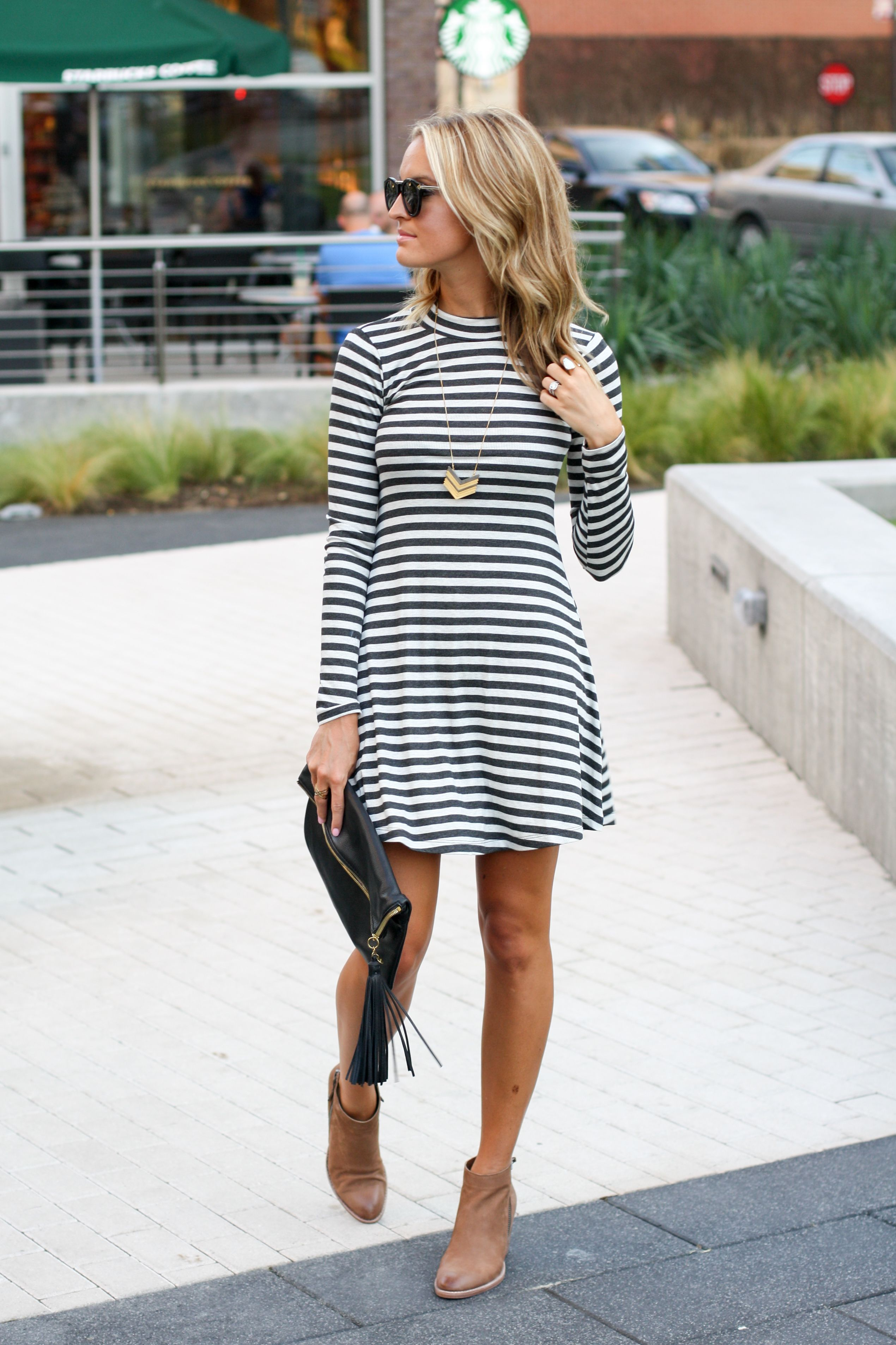 low boots with dresses