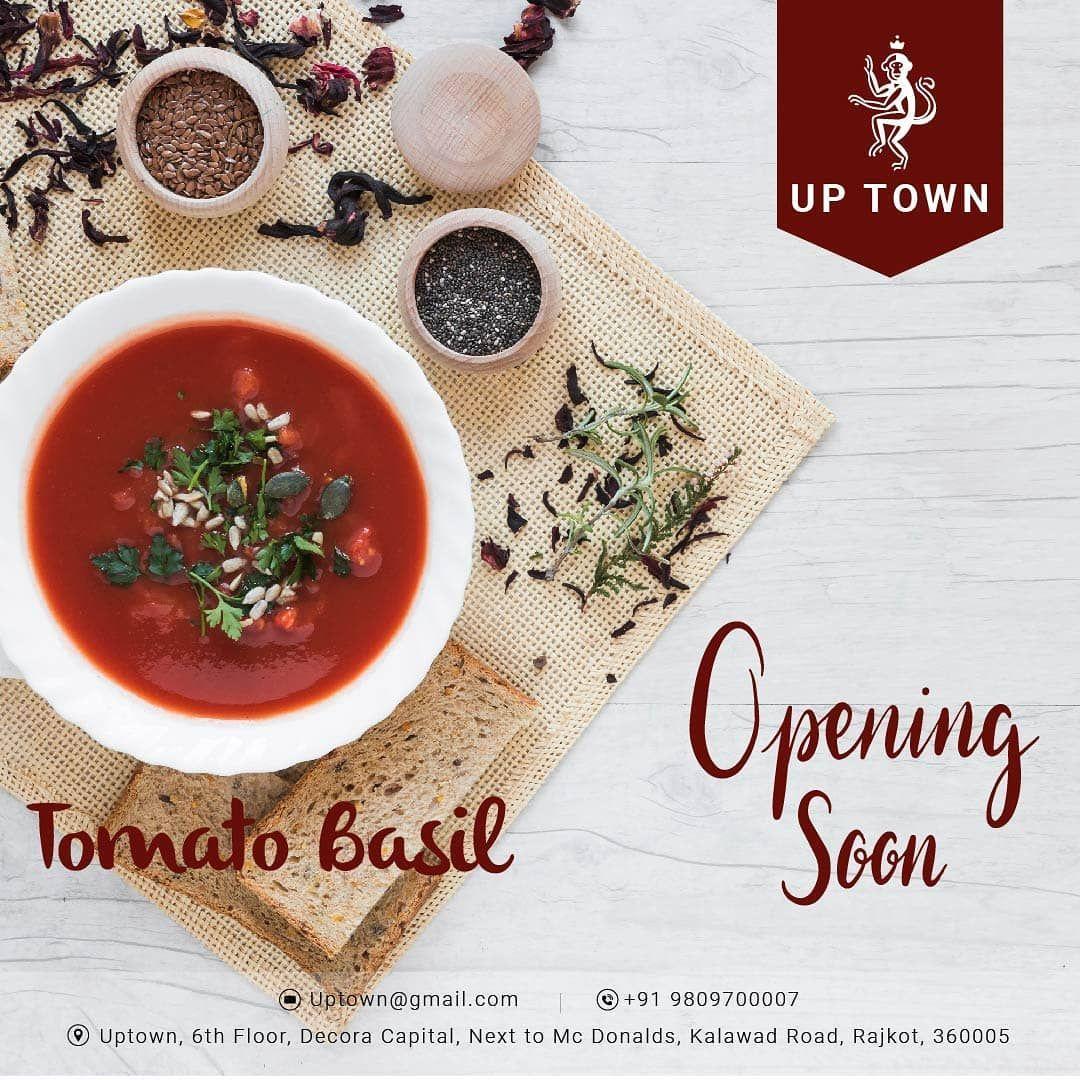 @uptown_rajkot  TomatoSoup flavoured with fresh Basil leaves.  #TomatoBasilSoup #tomatosoup #soup #tomato #basil #foodie #foodporn #food #foodstagram #healthyfood #tomatoes #vegan &n