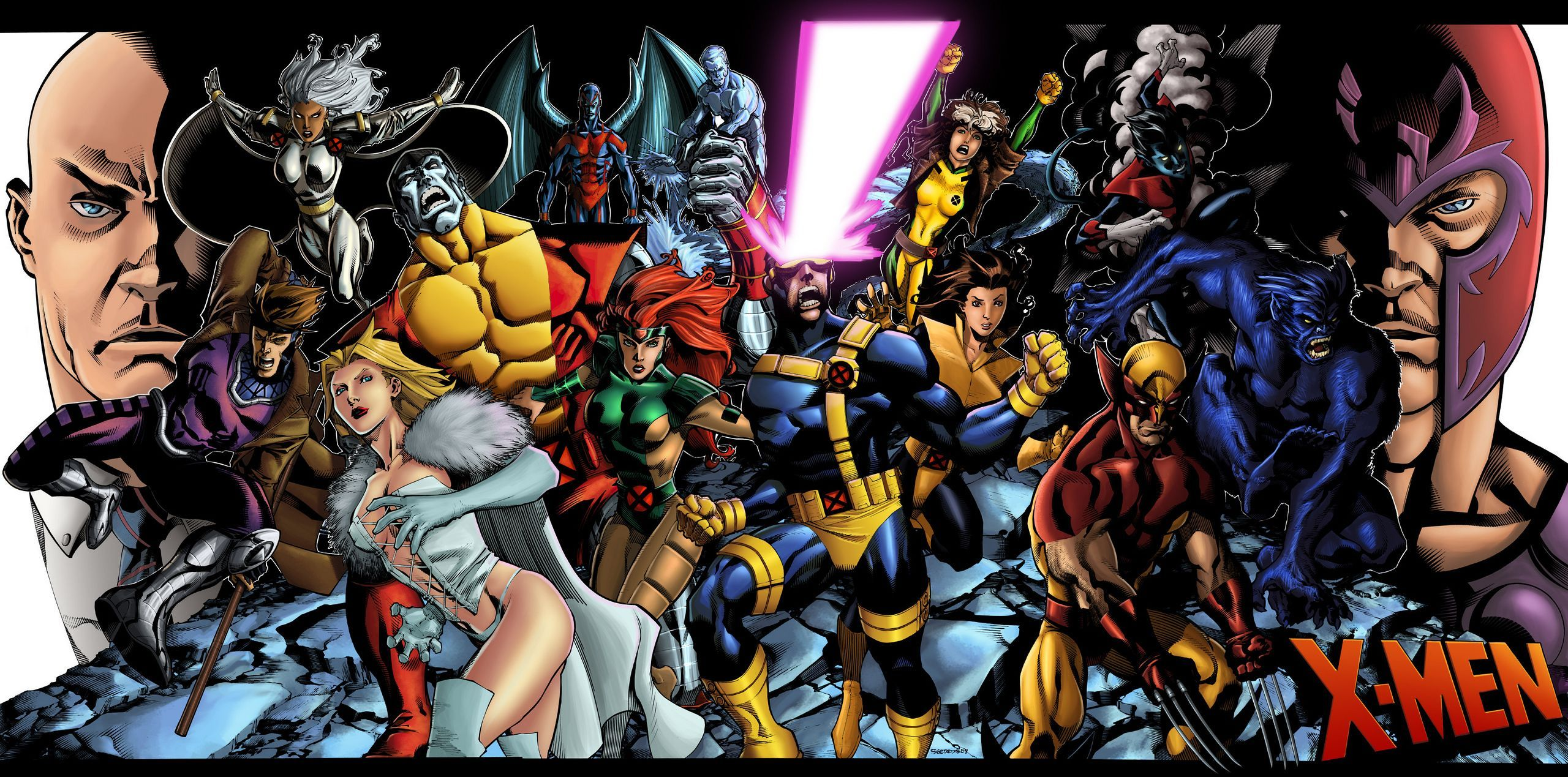 The X Men Comics Timeline A Summary Of Major Events Leading To Apocalypse 808418 Jpg 2560 1269 Marvel Wallpaper Marvel Comics Wallpaper Epic Art