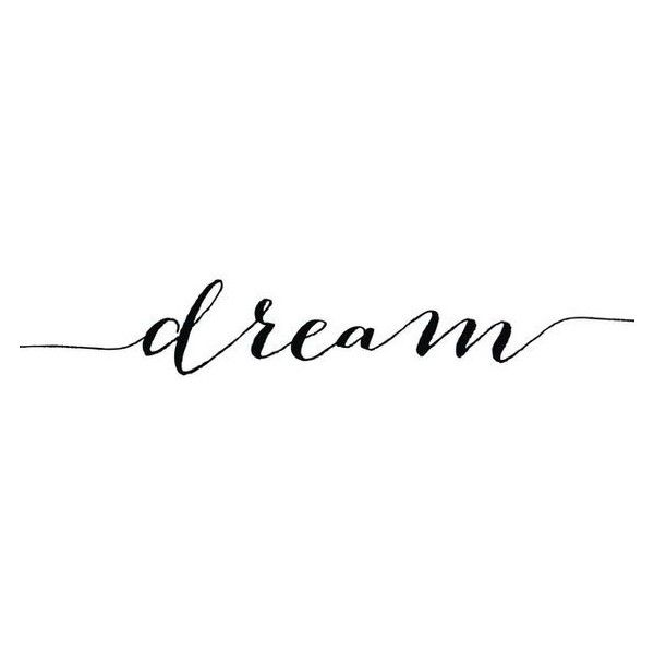 Dream Print Motivational Art Calligraphy Quote Digital Wall Dec Liked On