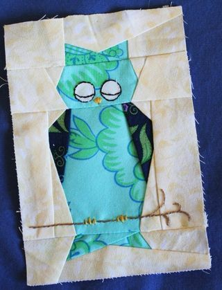 paper pieced #owl #quilt block
