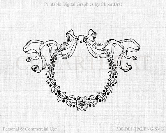 Christmas Wreath Clipart Commercial Use Clipart By Clipartbrat