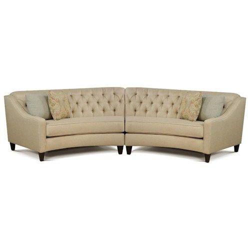 England Finneran 2 Piece Curved Sectional Sofa