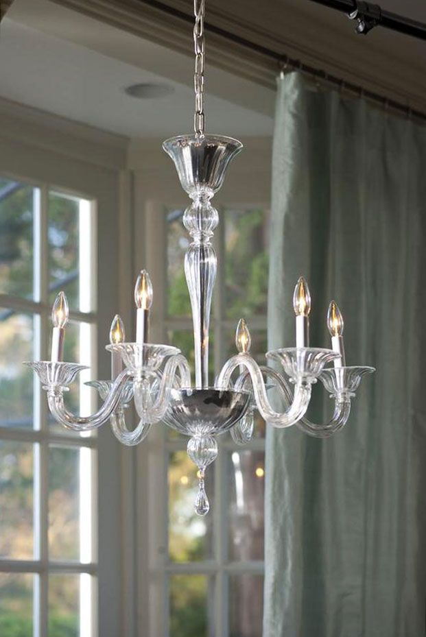 Beautiful Clear Murano Glass Chandelier Clear Lighting Ideas