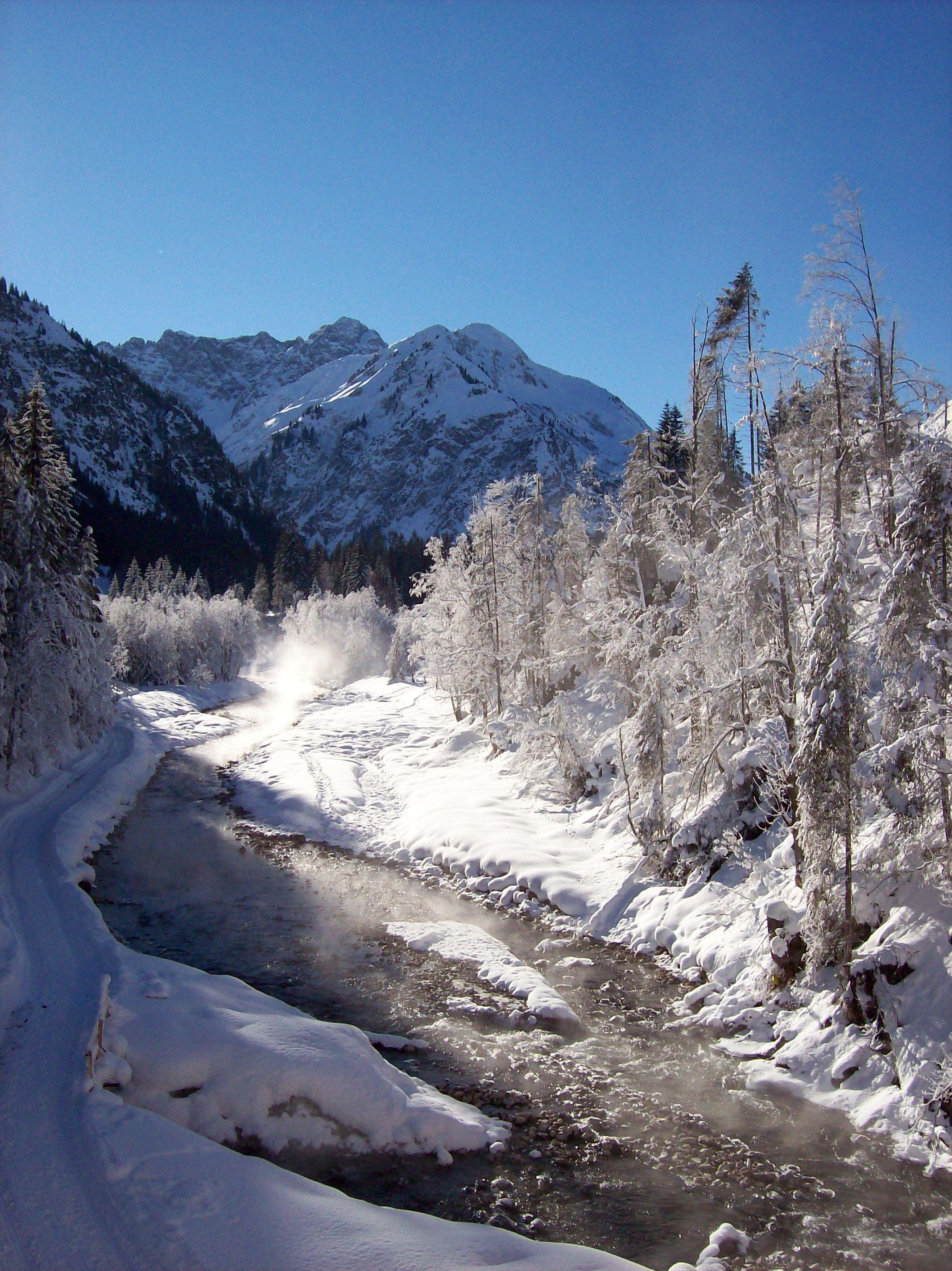 Skiurlaub 2019 Weihnachten.Dieser Schnappschuss Aus Dem Kleinwalsertal Zeigt Unsere Schöne