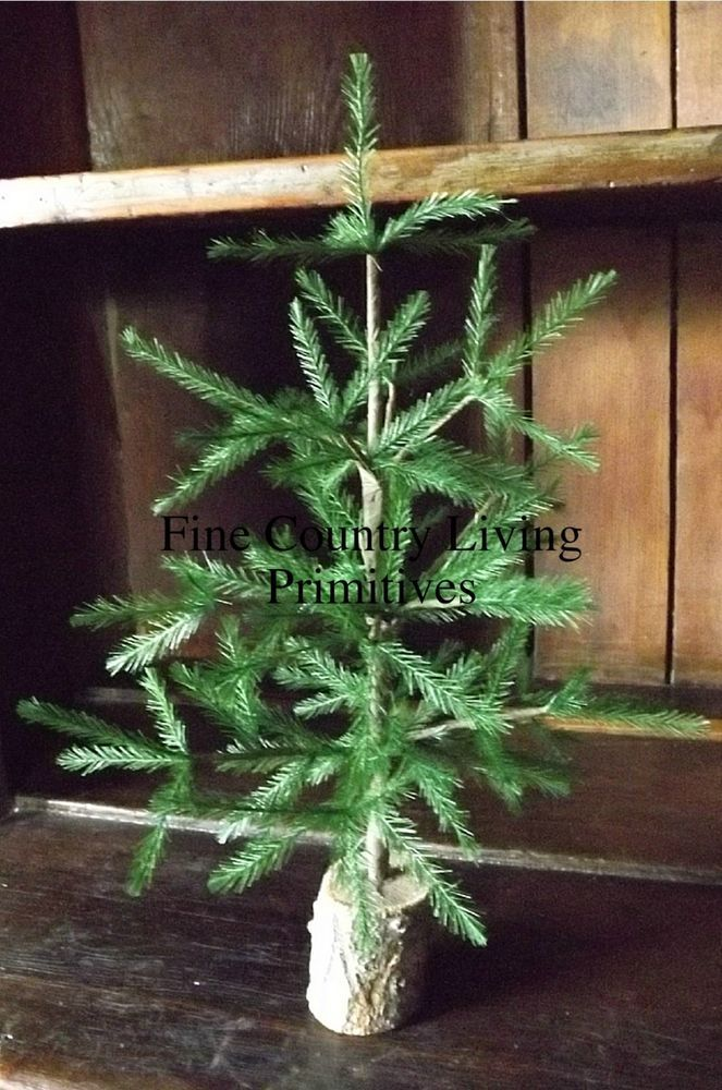 Primitive Country Colonial Cabin Christmas Feather Tree