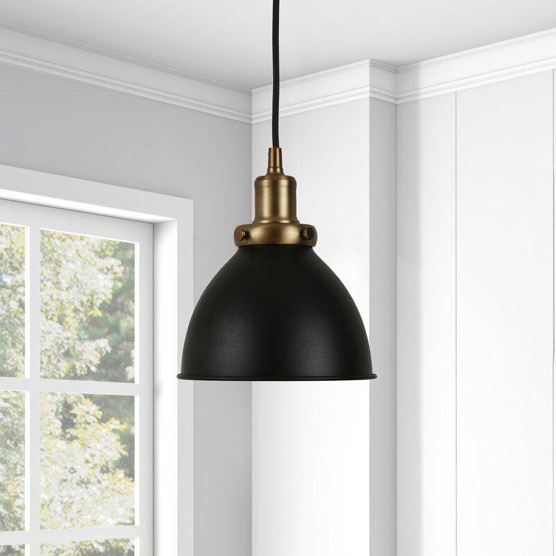 Wrought Studio Bodie 1 Light Single Bell Pendant Reviews Wayfair Ca In 2020 Brass Pendant Light Pendant Light Black Pendant Light Kitchen