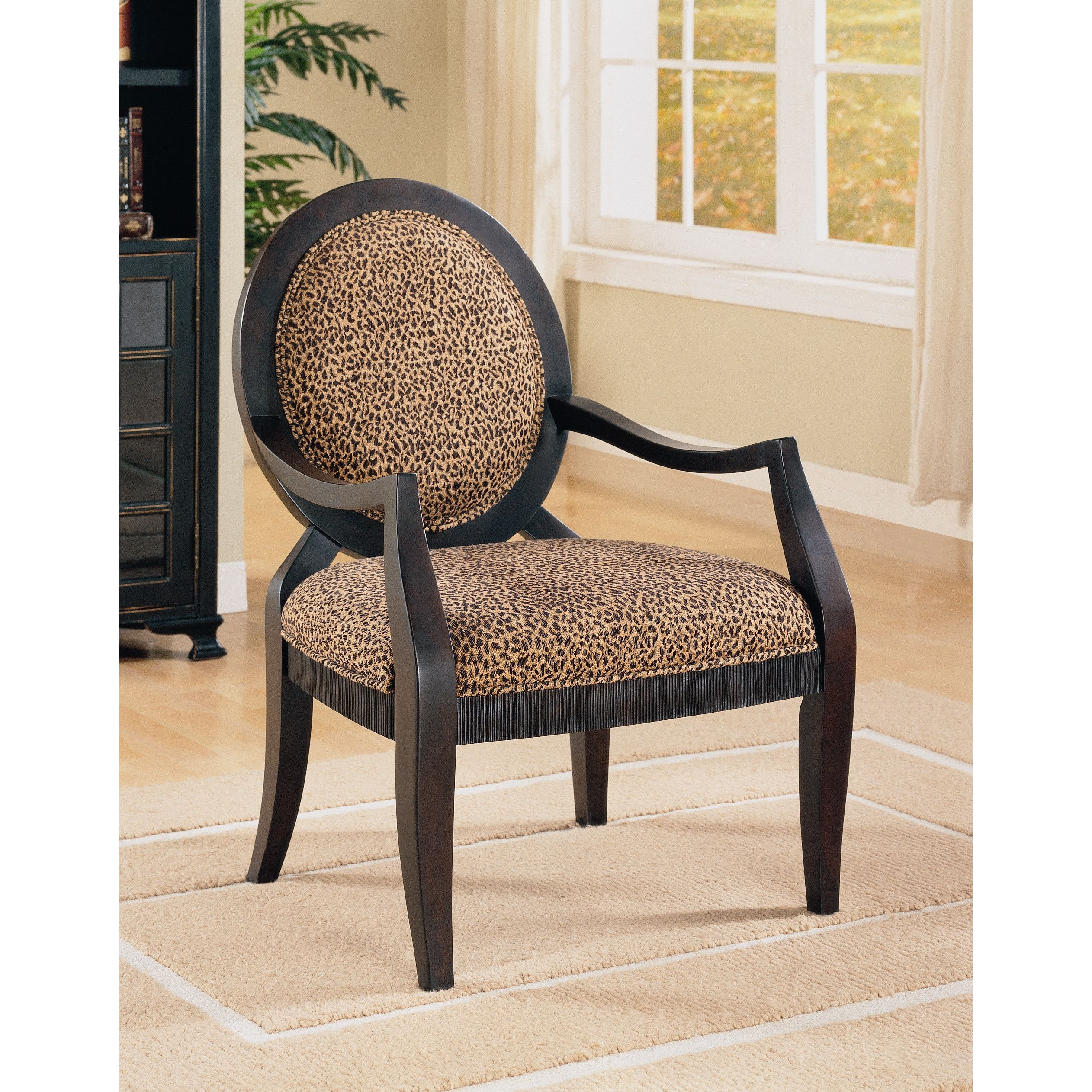 Amazing House Of Hampton Leopard Print Distressed Fabric Arm Chair Gmtry Best Dining Table And Chair Ideas Images Gmtryco