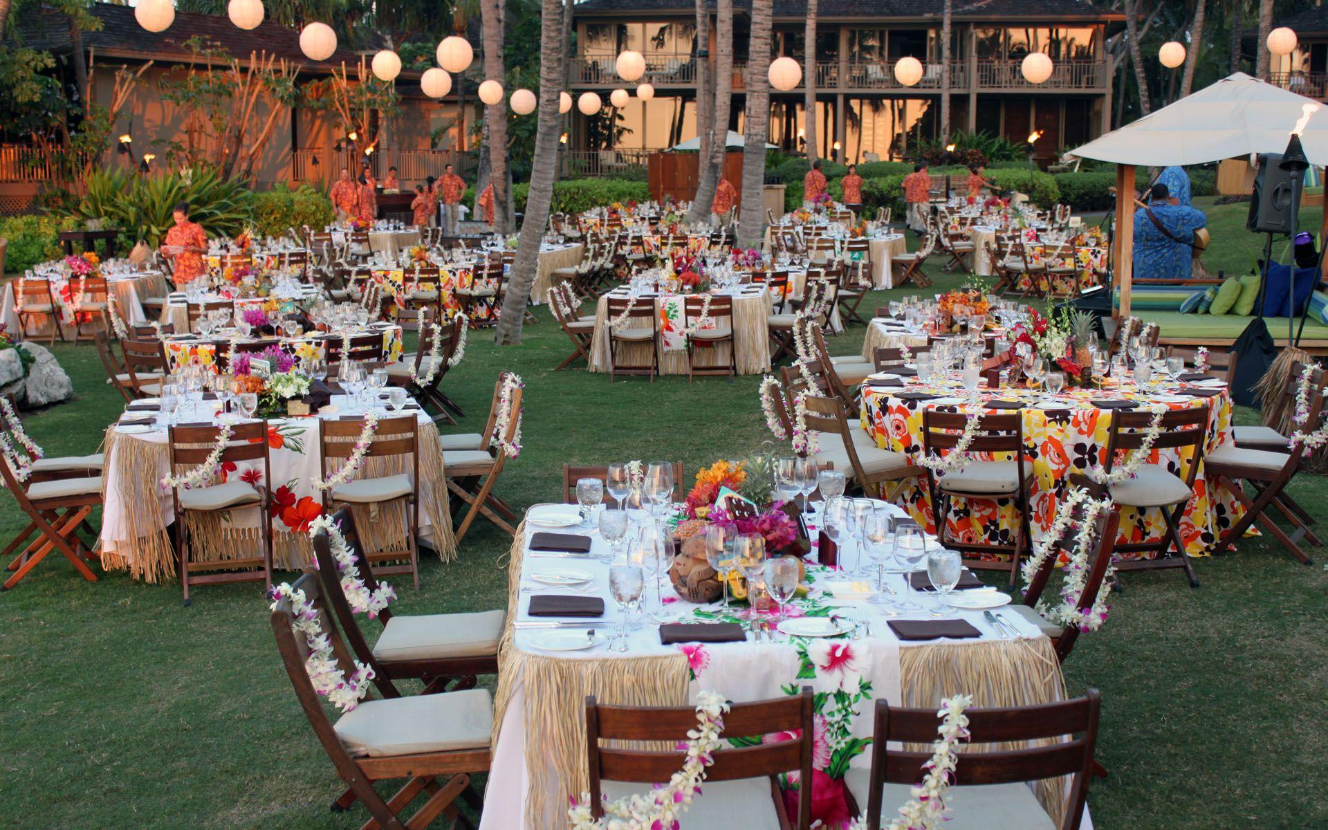 elegant luau   four seasons hualalai  hawaii koncept Table Top Centerpieces ocean themed centerpieces for weddings