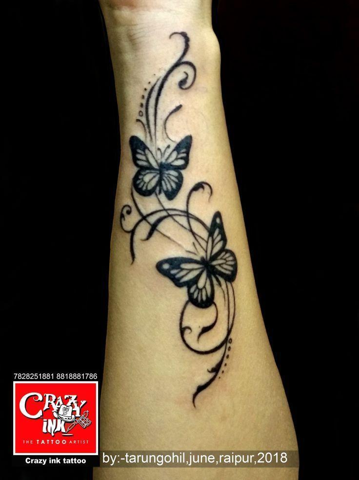 Photo of butterflytattoo von tarun gohil für mädchen handgelenk tätowierung. #butterfl