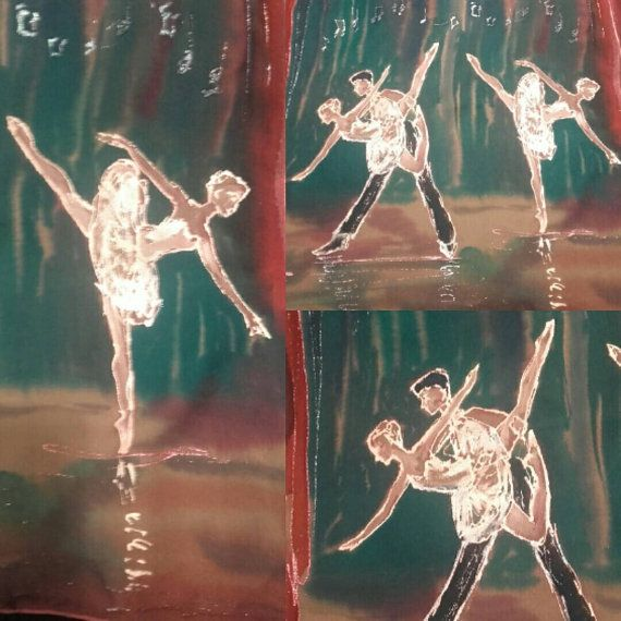 Check out this item in my Etsy shop https://www.etsy.com/listing/400955615/ballerinas-custom-silkpainting-on-scarf