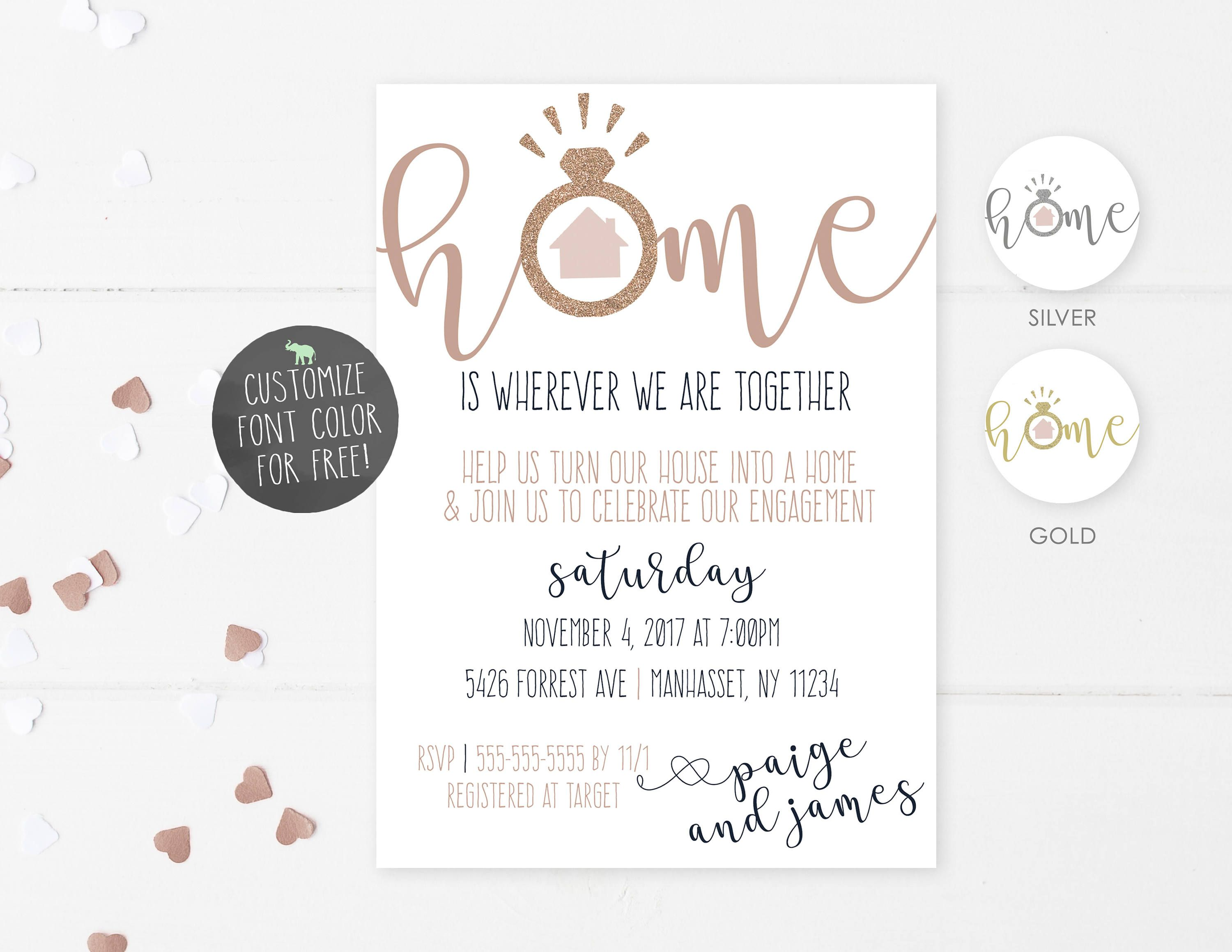 Engagement Housewarming Invitation Engagement Party | Home party ...