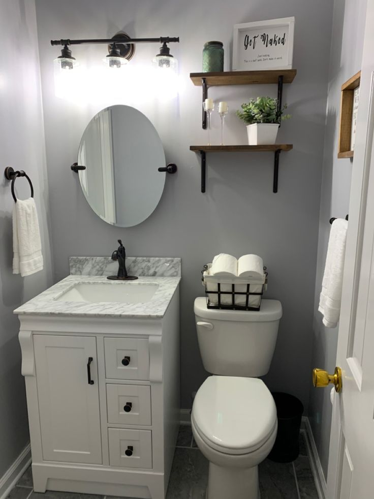 41+ Half Bathroom Ideas That'll Keep This Small Space ...