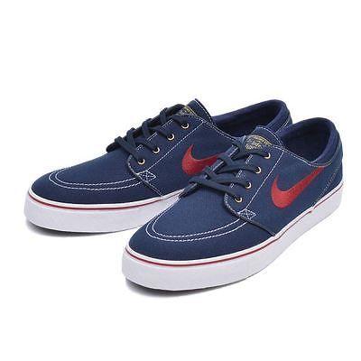 promo code 7bf13 d6498 Nike SB Zoom Stefan Janoski Canvas Mens 615957-467 Obsidian Skate Shoes  Size 9.5