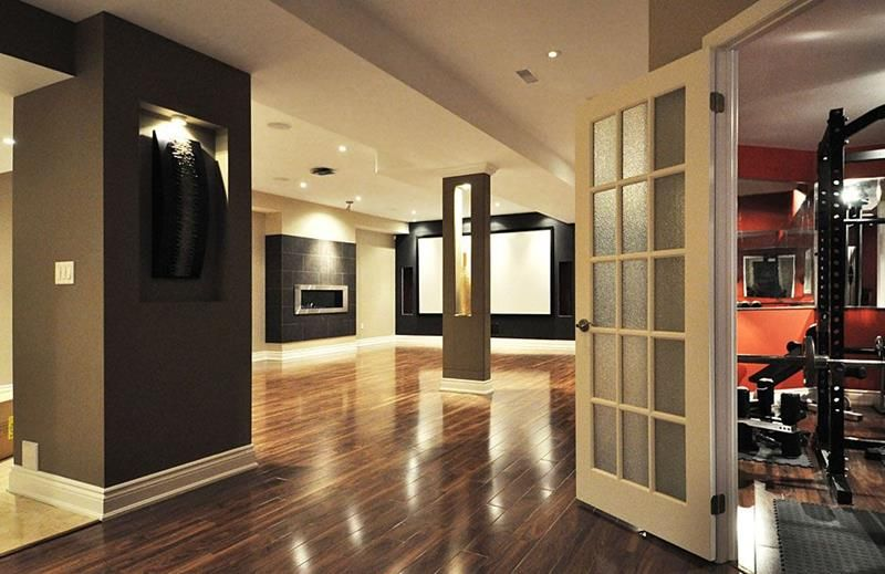 22 Finished Basement Contemporary Design Ideas Basement