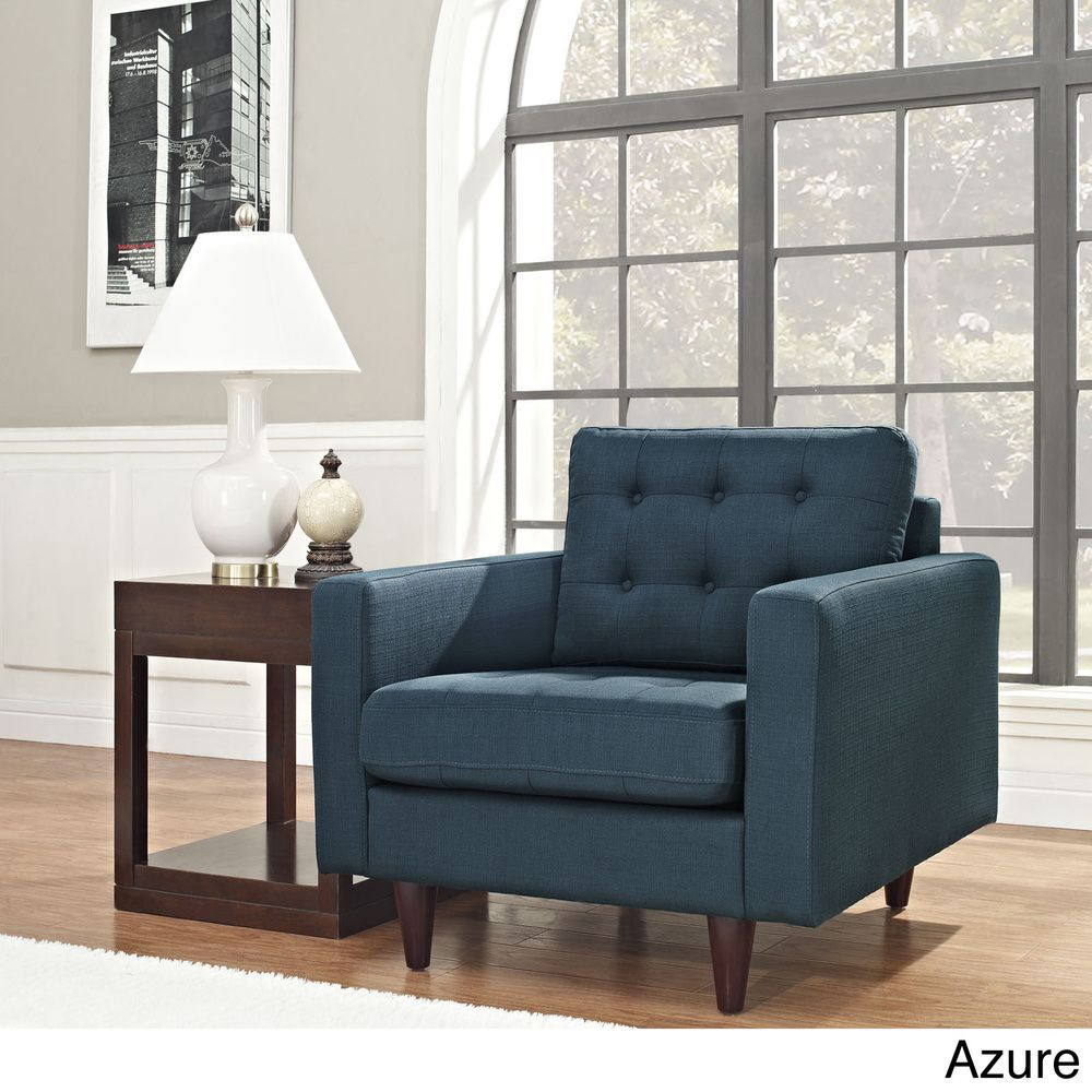 Empress Azure Upholstered Armchair   Overstock™ Shopping   Great Deals On  Modway Living Room Chairs