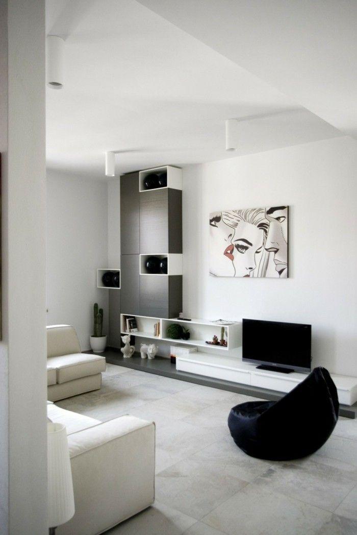 modernes wohnen wohnzimmer in neutralen farben | Interieur ...