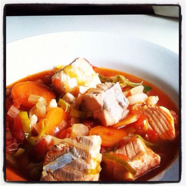 Delicious homemade fish soup - 15 min preperation