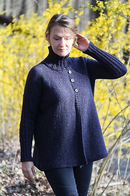 Ravelry: Turtleneck Jacket pattern by Jennifer Dassau