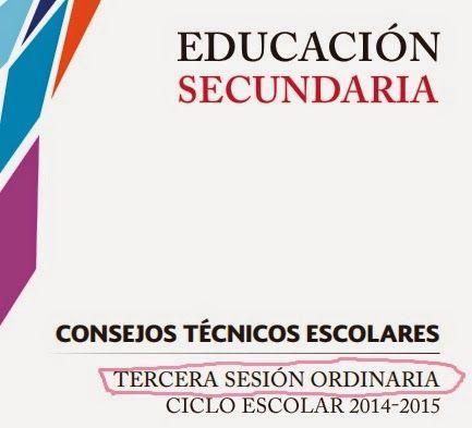 aLeXduv3: Consejo Técnico Escolar 3ra sesión ordinaria 2014-2015 (Secundaria)