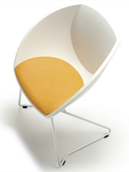 Sled base ergonomic stackable #chair POP CORN by Fora Form | #design Sven Ivar Dysthe