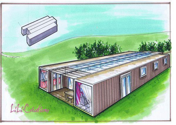 Cest une maison composée de 4 containers de 40 pieds en plein ...