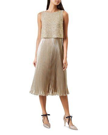 fc828337aa4 HOBBS LONDON Evelyn Embellished Midi Dress - Bloomingdale s ...