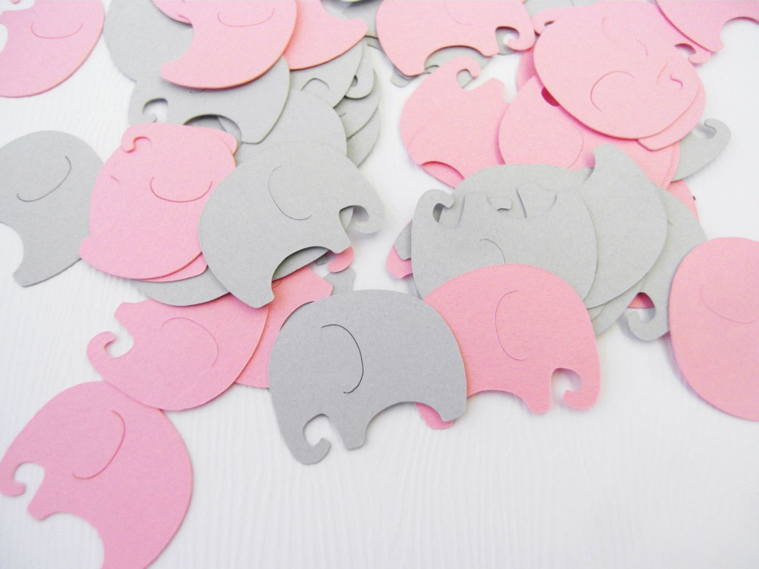 Awesome Baby Elephants Table Confetti   Pink And Gray