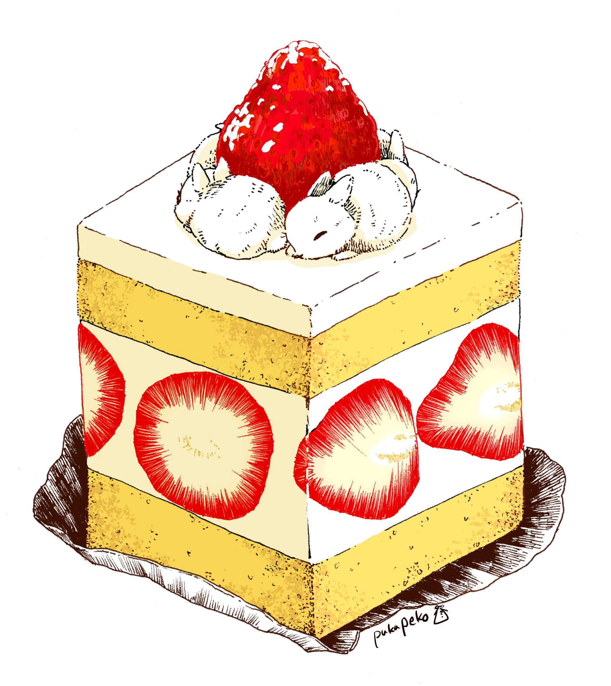 strawberry shortcake rabbits ~ pukupeko illustration | animal