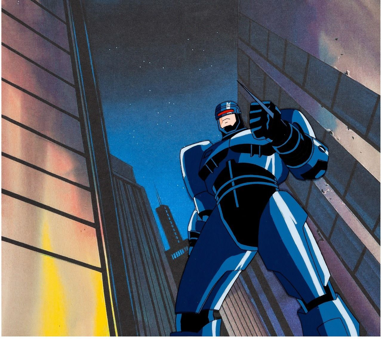 Animation cels from robocop alpha command 1998 it may