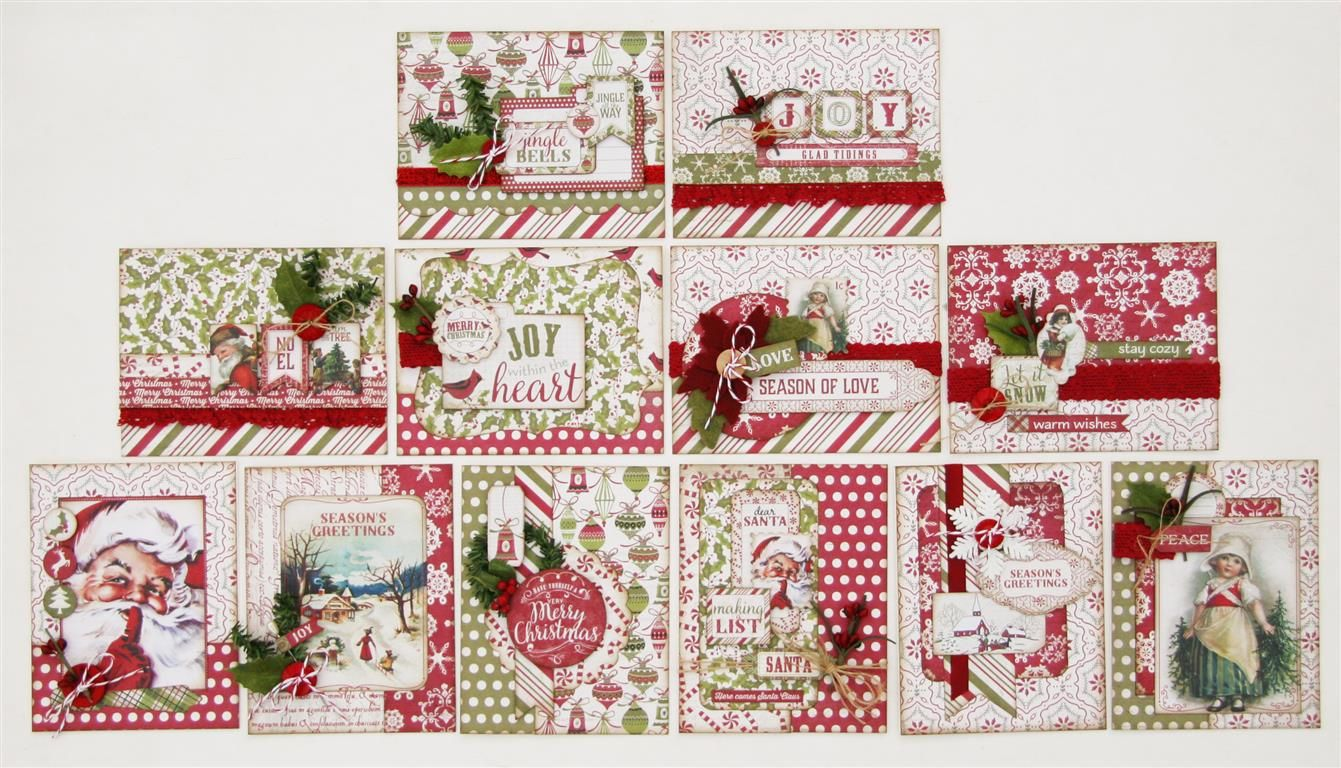 Holiday Card Kit Everything To Make 12 Cards W Envelopes Using The Christmastime Collect Christmas Note Cards Christmas Cards Handmade Vintage Christmas Cards