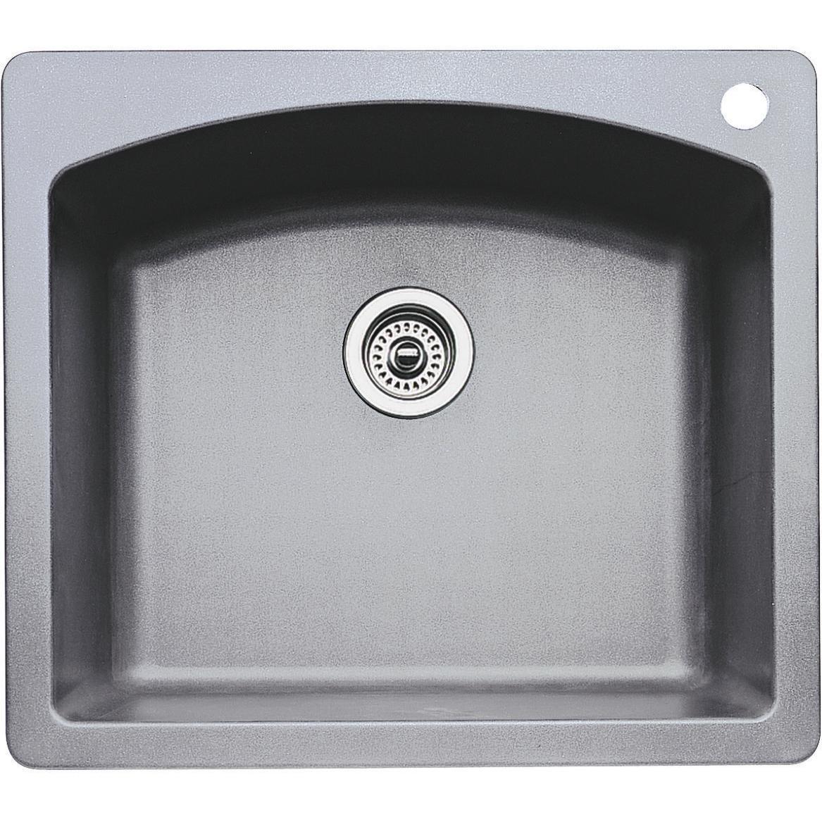 Blanco Diamond 25 X 22 Silgranit Ii Single Bowl Dual Mount Sink