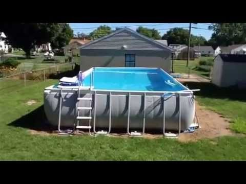 pool intex ultra frame 32x16 52 deep youtube above ground