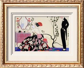 The Backless Dress Giclee Print by Georges Barbier at Art.com