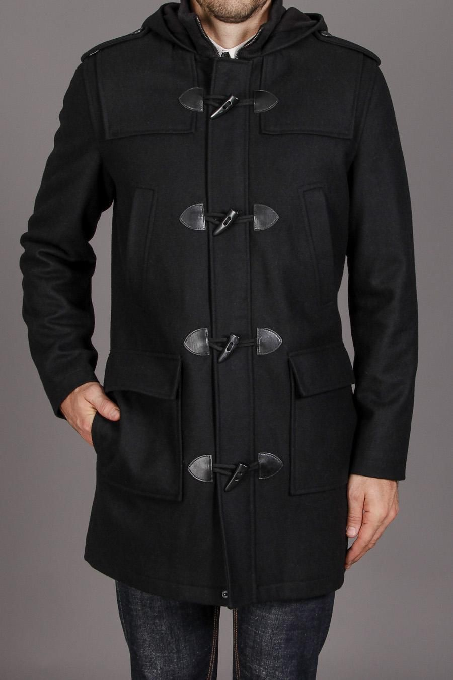4 Pocket Toggle Jacket With Zip Front and Hood / by Black Rivet.