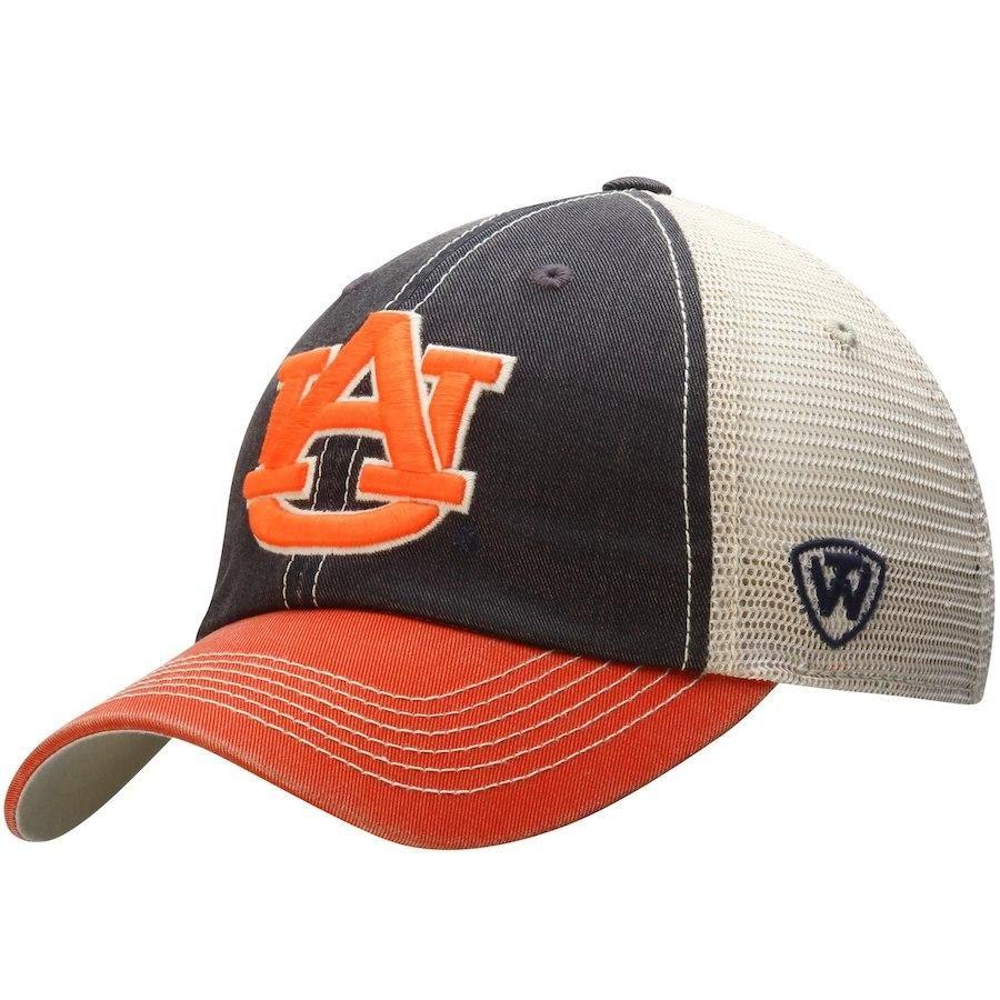 online retailer 06cf4 4bda7 Auburn Tigers Top of the World Navy Orange Offroad Adjustable Snapback Hat  Cap