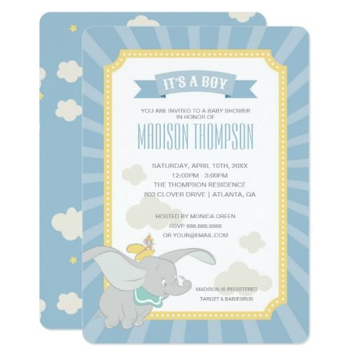 baby shower card dumbo baby shower baby shower cards boy baby showers