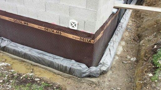 pose d 39 un drain p riph rique suivi de chantier mb concept provence pinterest suivi. Black Bedroom Furniture Sets. Home Design Ideas