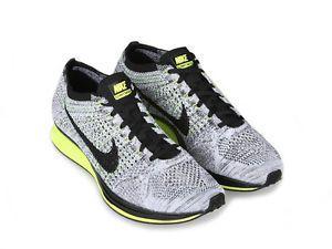 57946d7beff3b ... Mens Nike Flyknit Racer Size Black White Volt (Oreo Volt) New in  Clothing