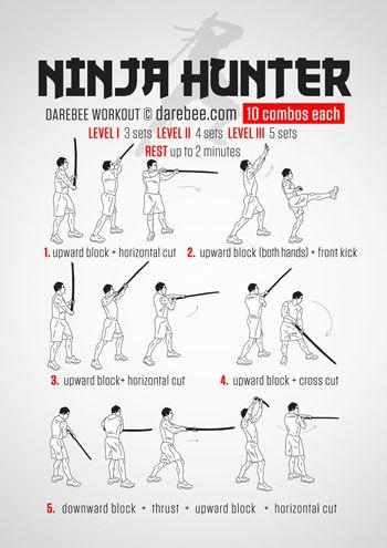 ninja hunter workout  martial arts workout martial arts