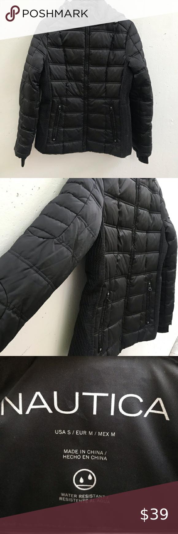 Nwot Nautica Puffer Jacket In Black Puffer Jackets Puffer Jackets [ 1740 x 580 Pixel ]