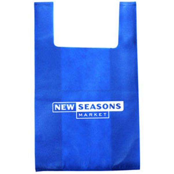 Non woven 40 GSM polypropylene grocery tote bag is light weight and 100%  recyclable. Size  13