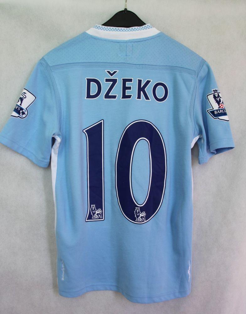 UMBRO MANCHESTER CITY FC 2011   2012 JERSEY SHIRT BLUE  10 DZEKO sz M   40   Umbro 3cda1893c