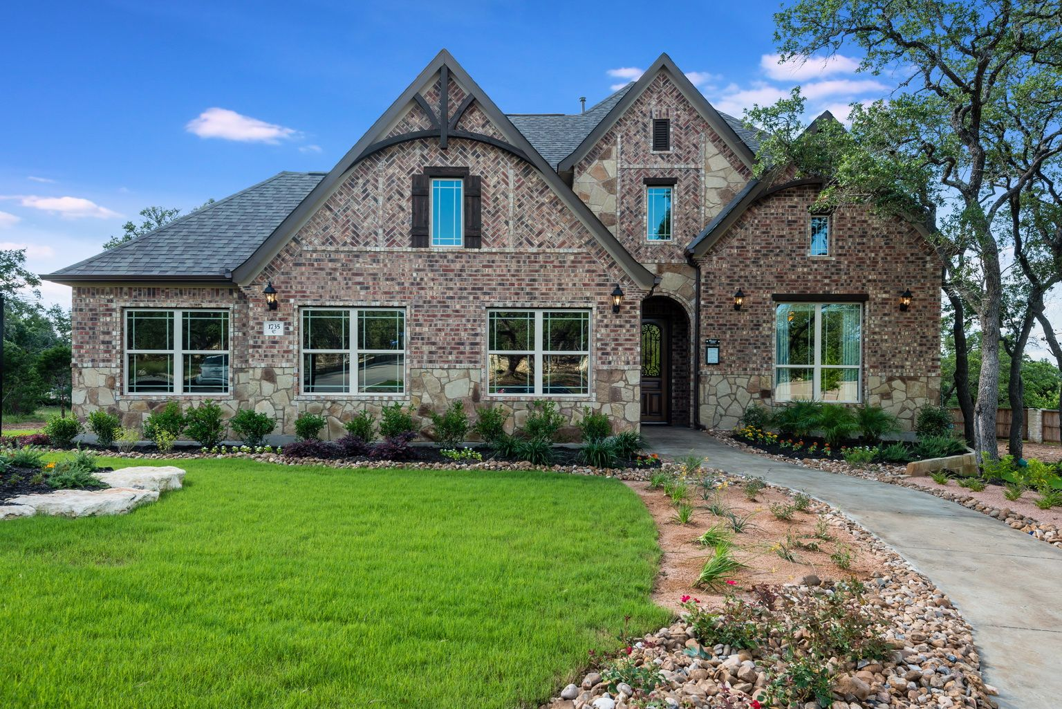 Coventry homes in kinder ranch brick and stone elevation for Brick and stone elevations