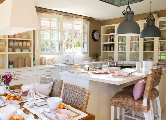 1001 ideas de cocinas rusticas c lidas y con encanto - Cocinas pequenas con encanto ...