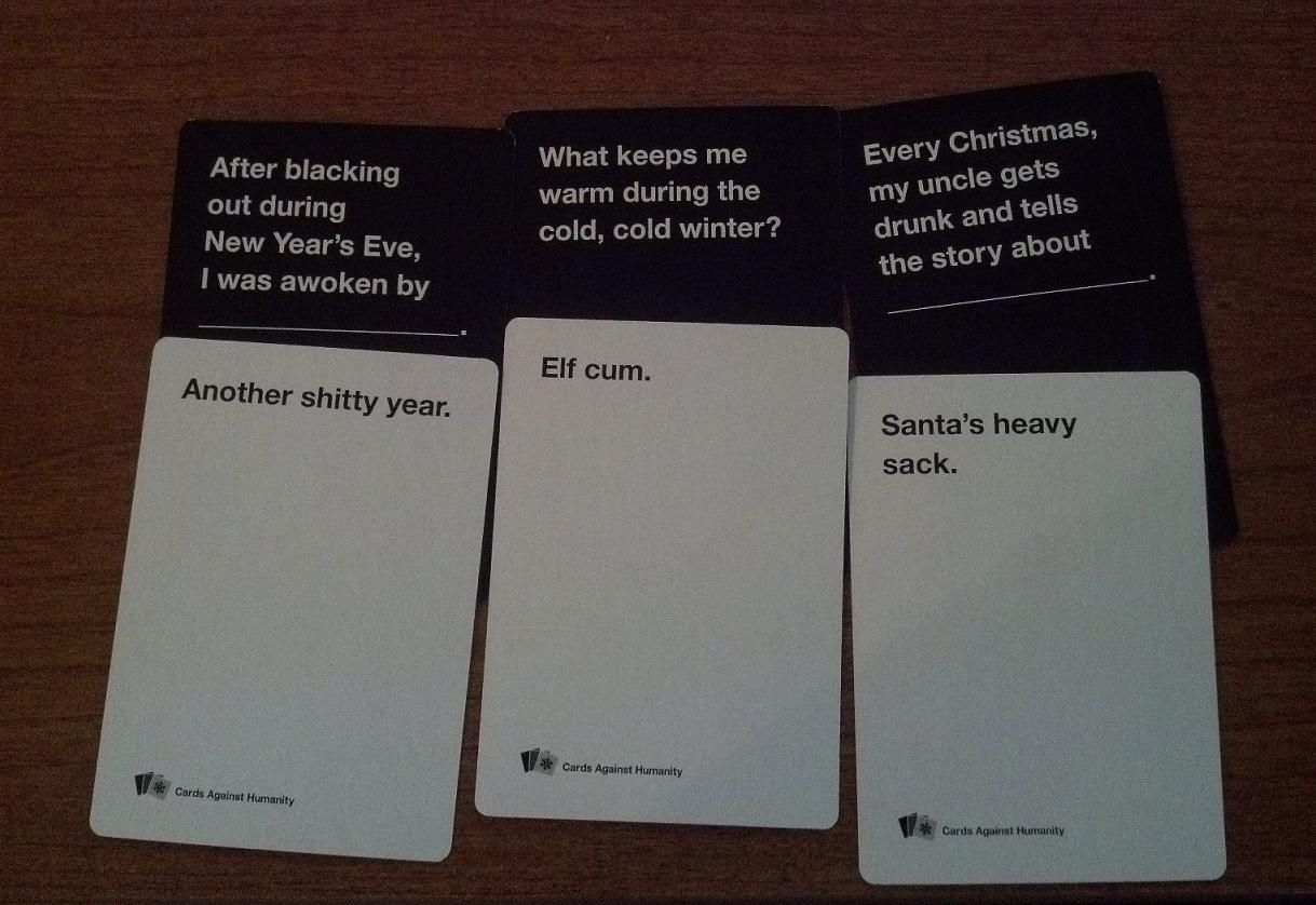 A party game for horrible people with images cards